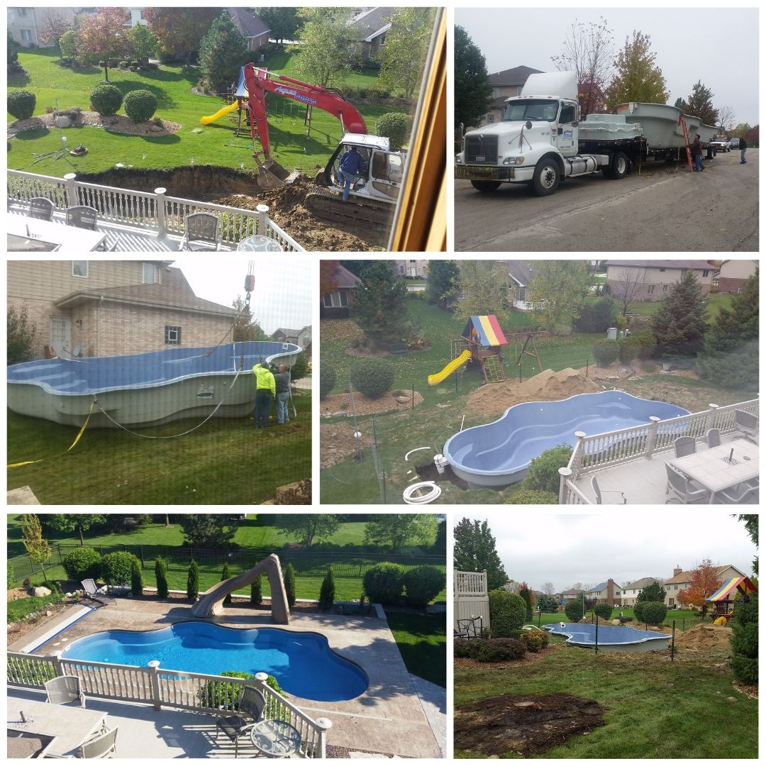 fall pool installation