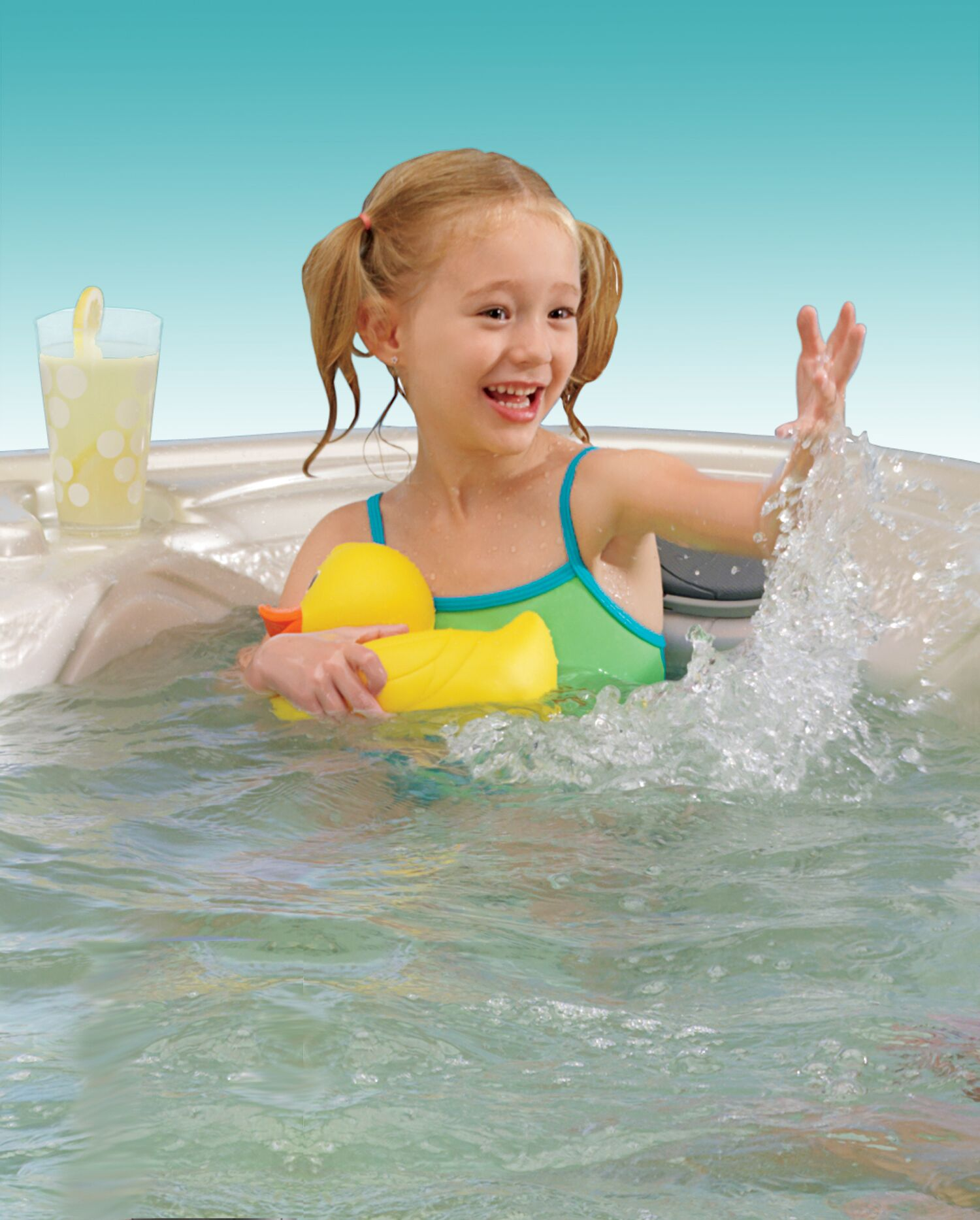 Children can safely enjoy a hot tub by following some safety rules